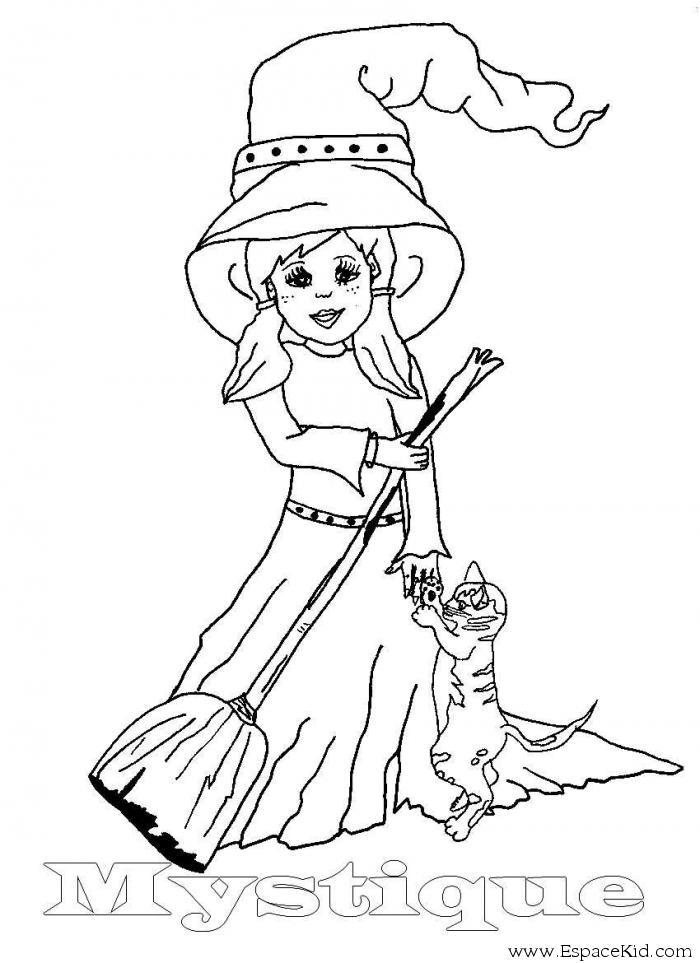 50 dessins de coloriage sorci re imprimer sur page 4 - Image de sorciere a imprimer ...
