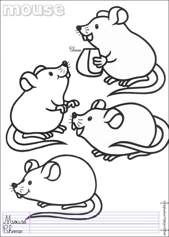 Sélection de coloriage souris à imprimer sur LaGuerche.com - Page 1