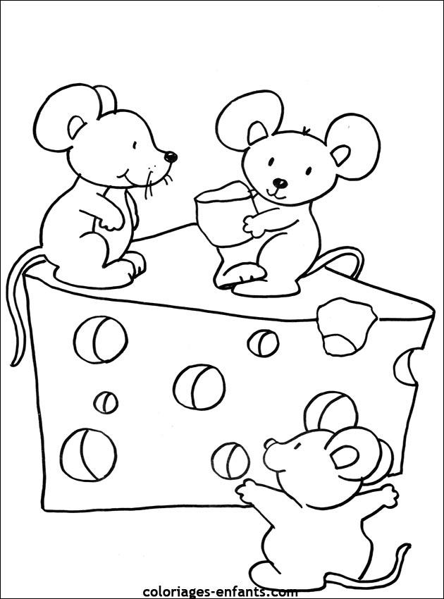 Sélection de coloriage souris à imprimer sur LaGuerche.com - Page 2