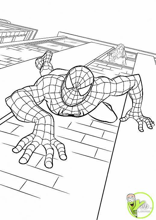 coloriage spiderman montre son agilité