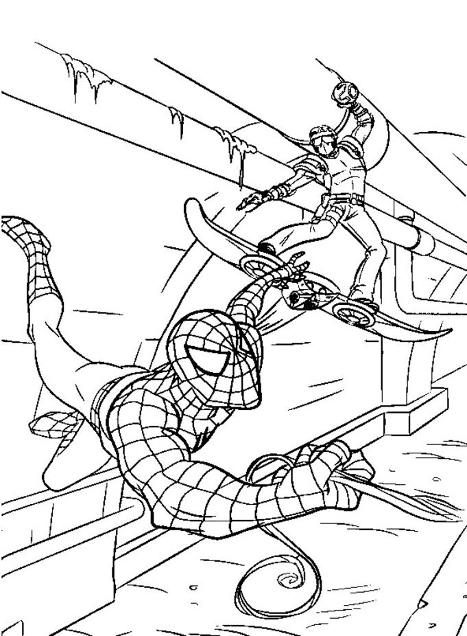 167 dessins de coloriage spiderman imprimer sur page 1 - Coloriage spiderman 1 ...