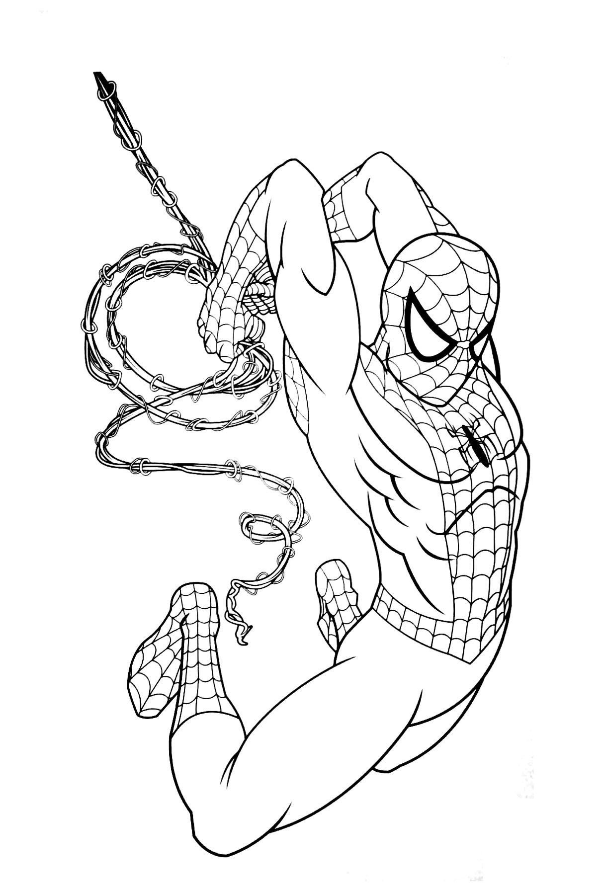 coloriage spiderman gratuit dans coloriage spiderman
