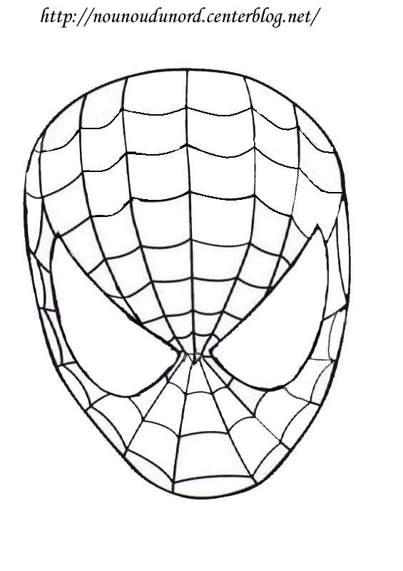 coloriage yeux spiderman