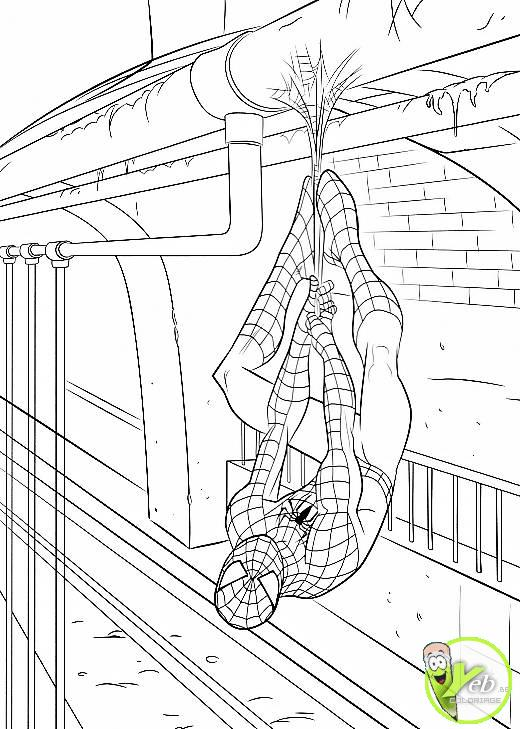 coloriage spiderman le repos du guerrier spiderman