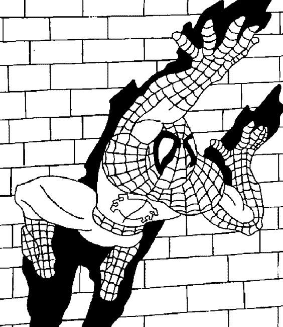 coloriage coloriage spider man gratuit à imprimer pour enfant