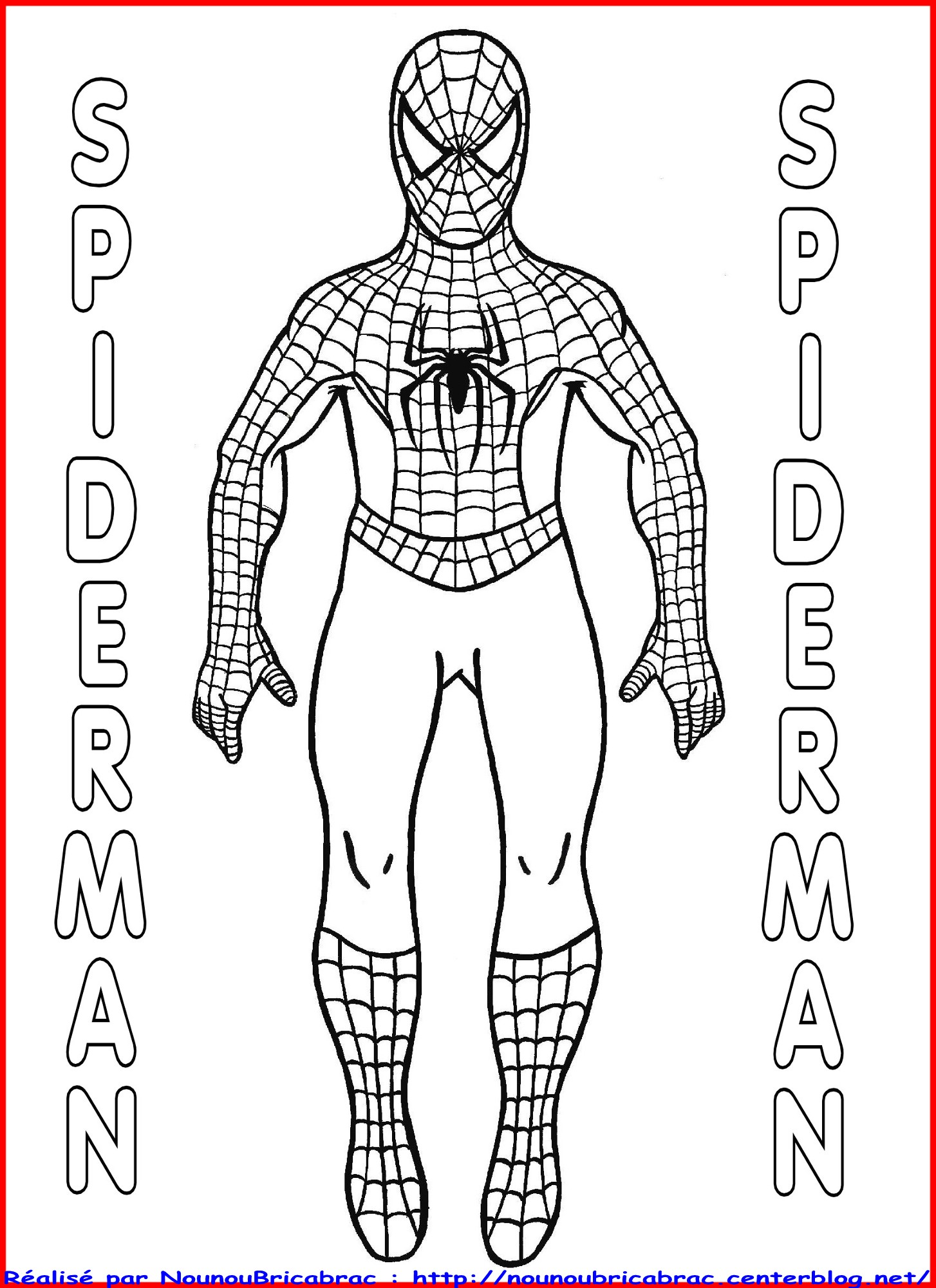 coloriage pantin spiderman