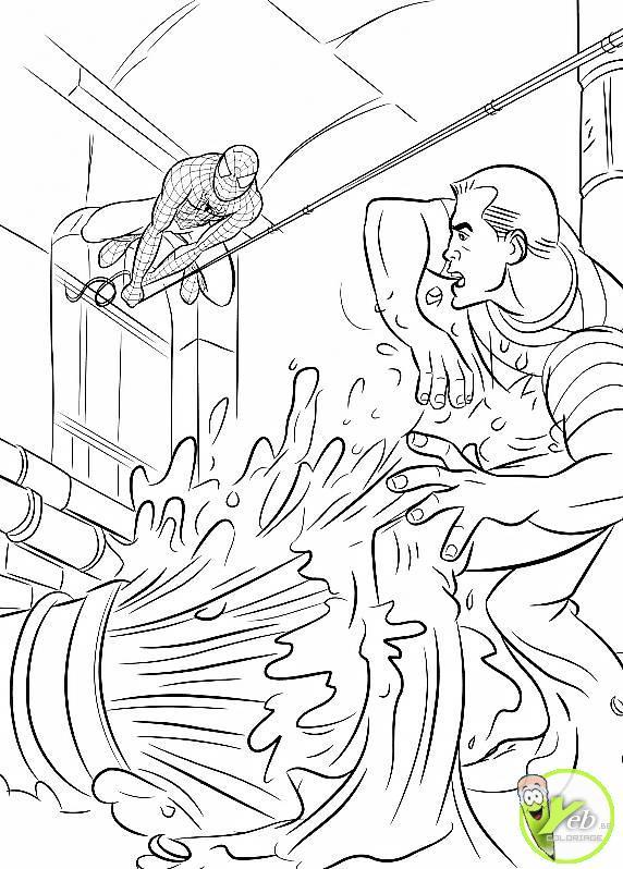 coloriage spiderman spiderman suit le bandit dans les égoûts