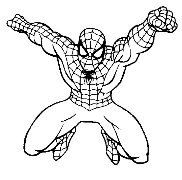 coloriage de spiderman pour colorier