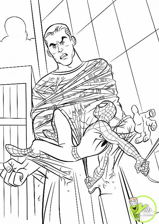 coloriage spiderman le géant homme sable