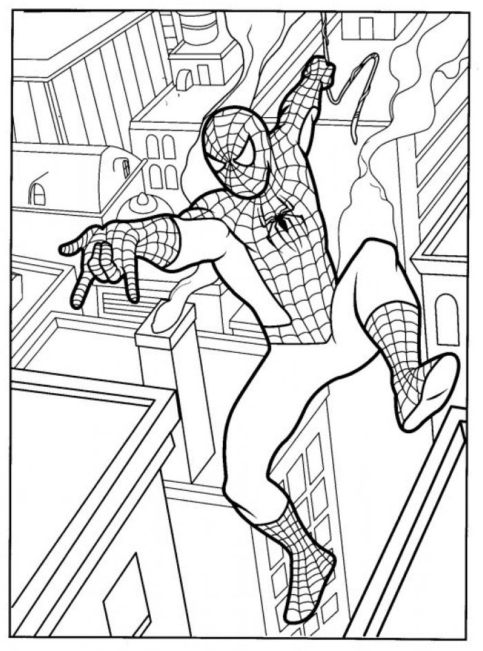 coloriage à imprimer spiderman