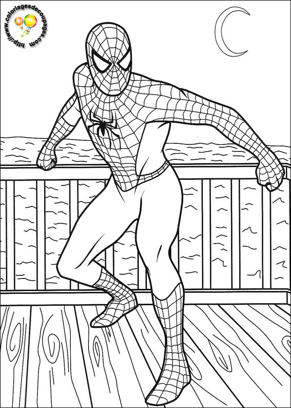 spiderman coloriages colorier
