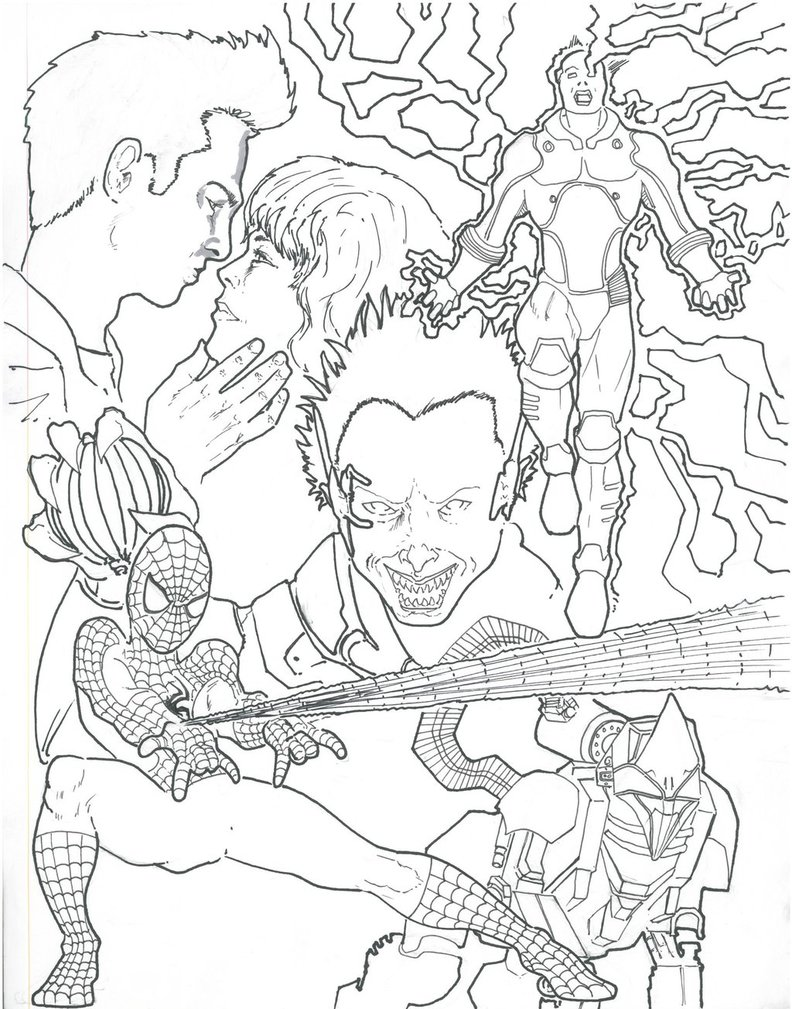 167 dessins de coloriage spiderman imprimer sur for Amazing spiderman 2 coloring pages