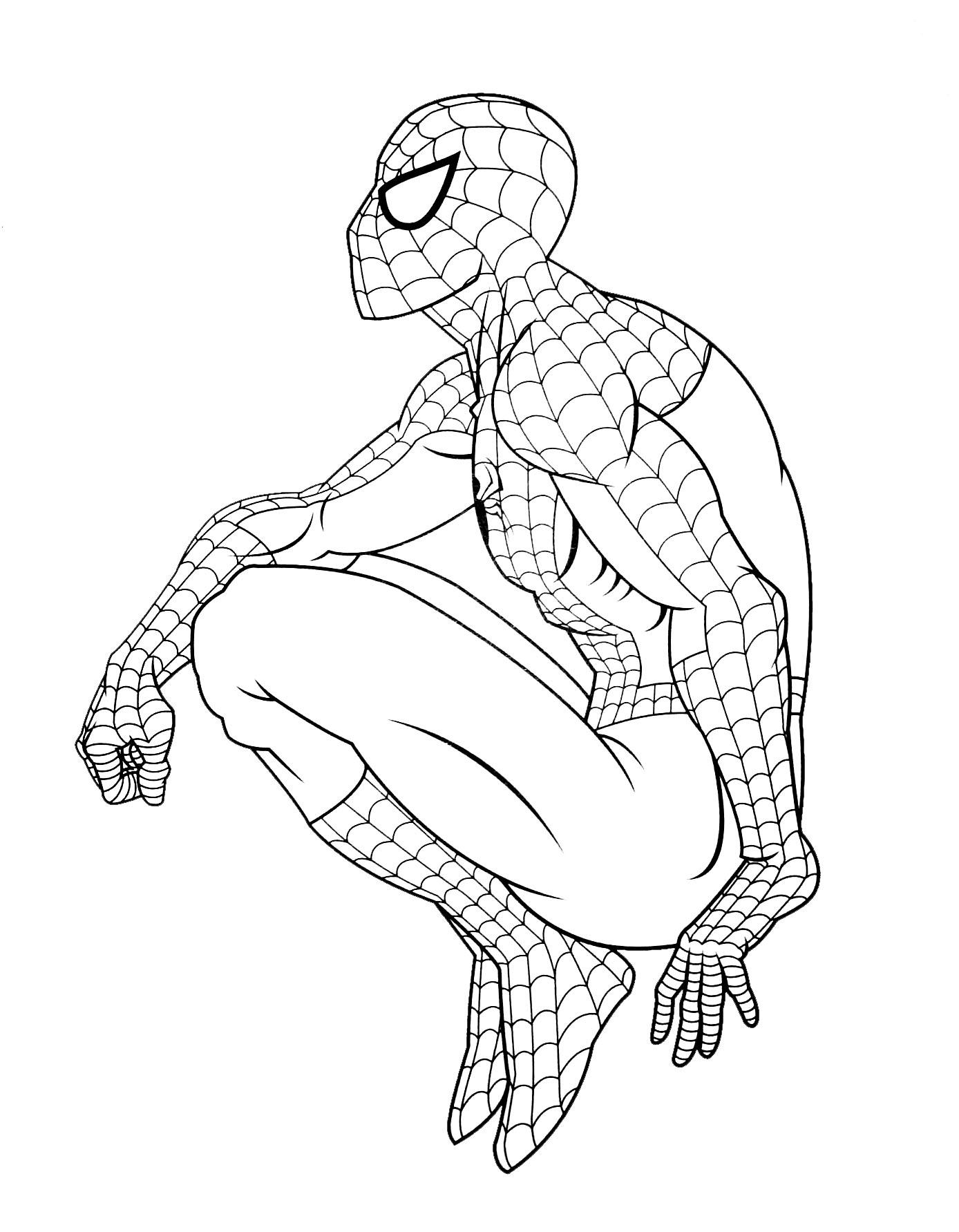coloriage spiderman gratuit gratuit à imprimer