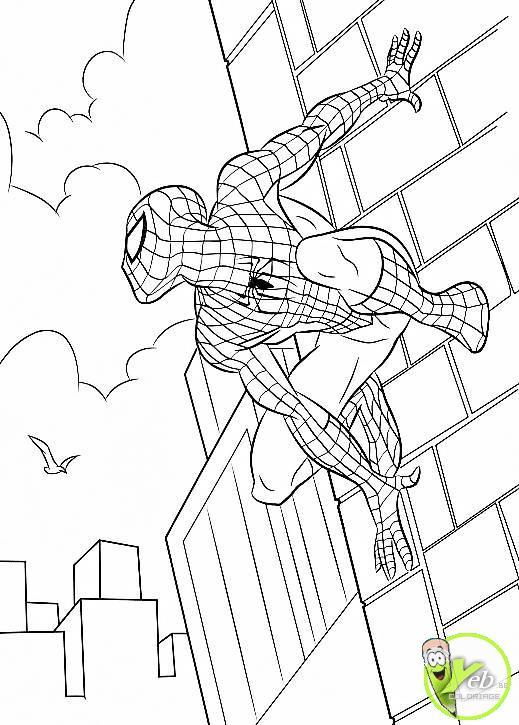 coloriage spiderman à sentit le danger dans la catégorie