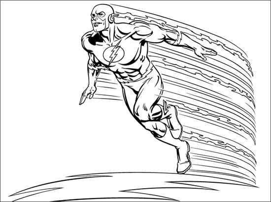 coloriage flash le super heros