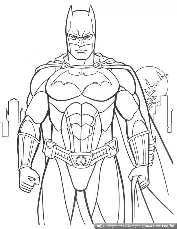 coloriage super heros facile a dessiner