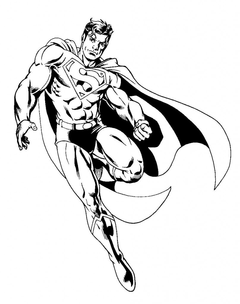 super heros coloriage