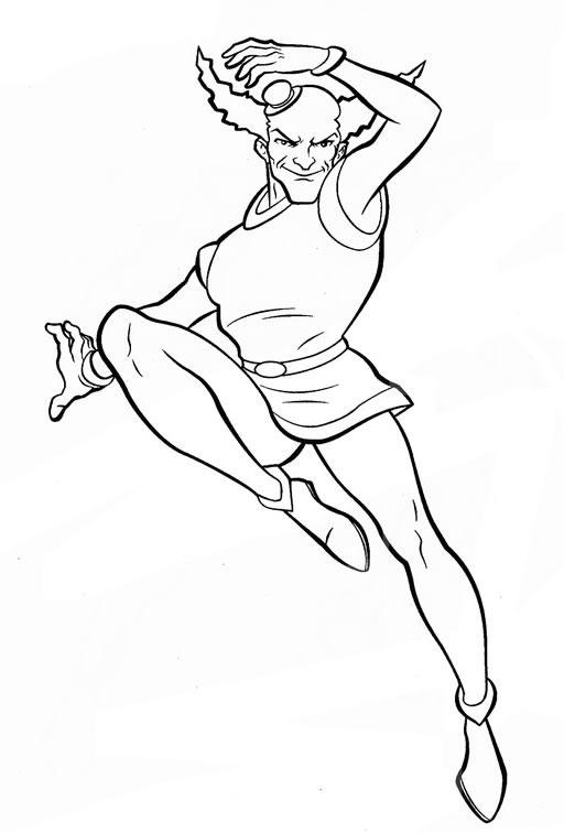 coloriage super heros facile a dessiner