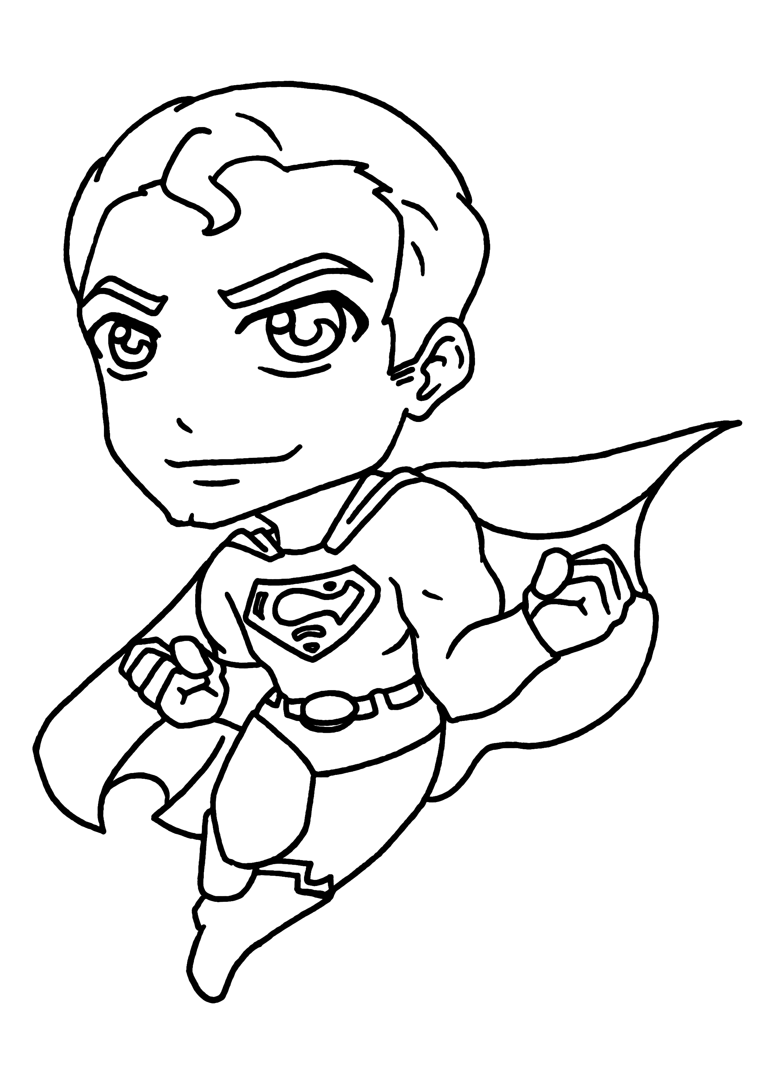 coloriages de super héros superman