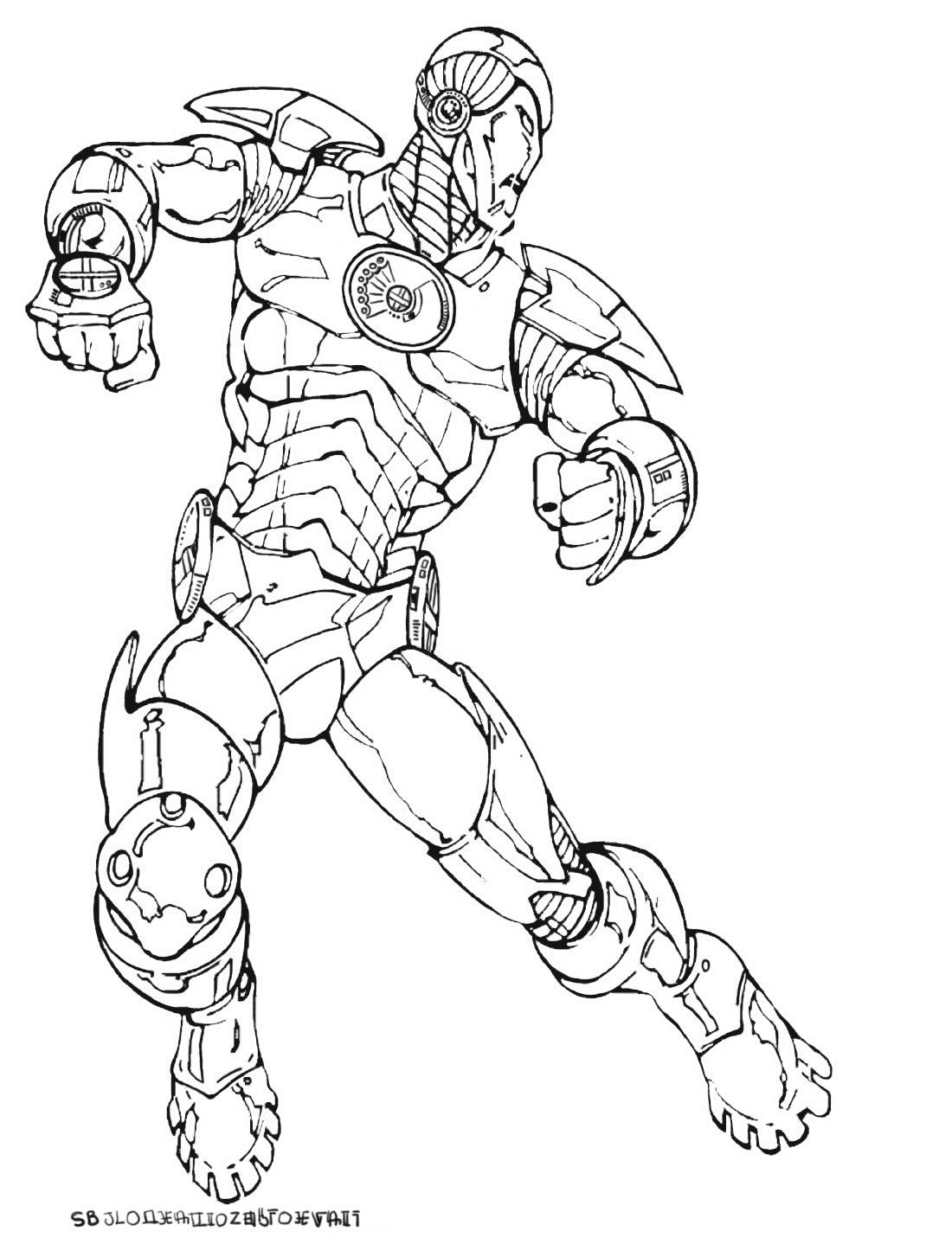 coloriages du super héros ironman.