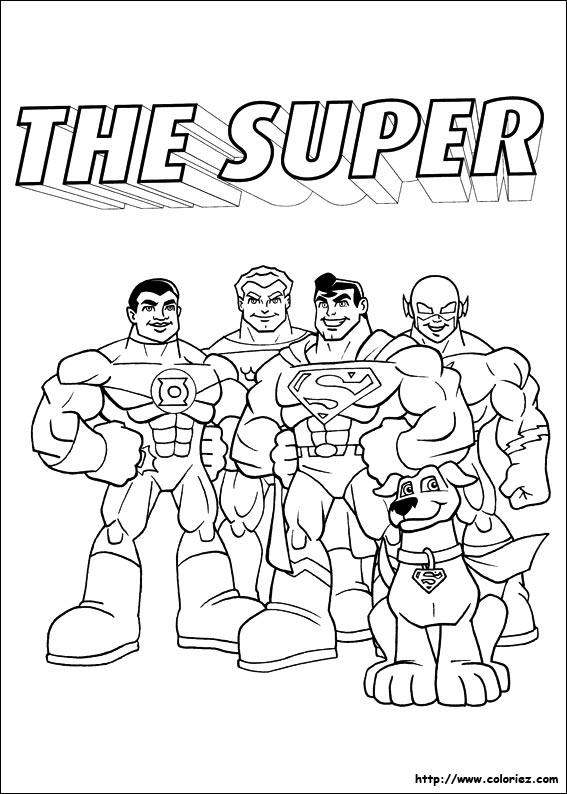 coloriage super héros