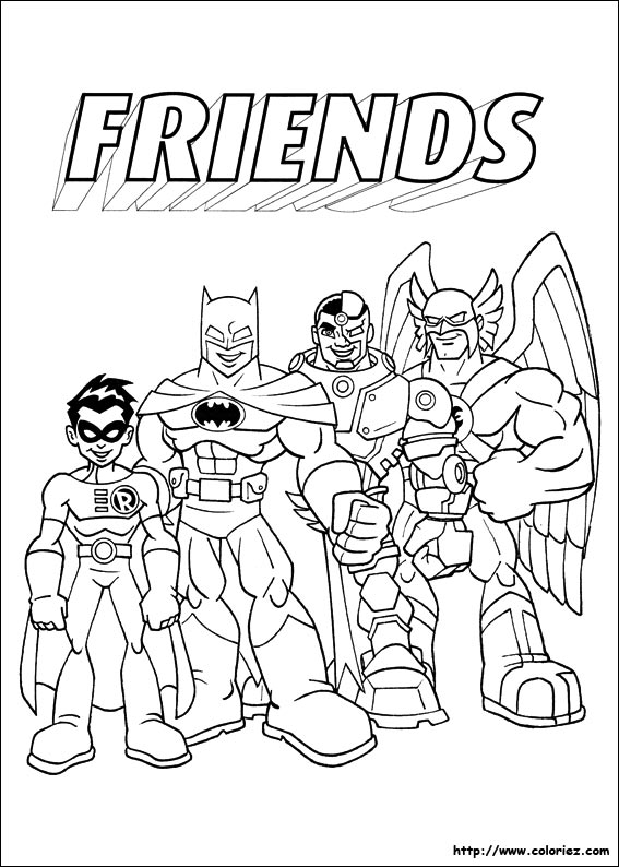coloriage super héro friends