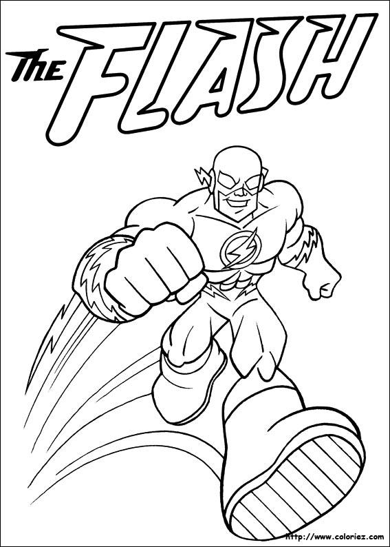 coloriage coloriage de flash
