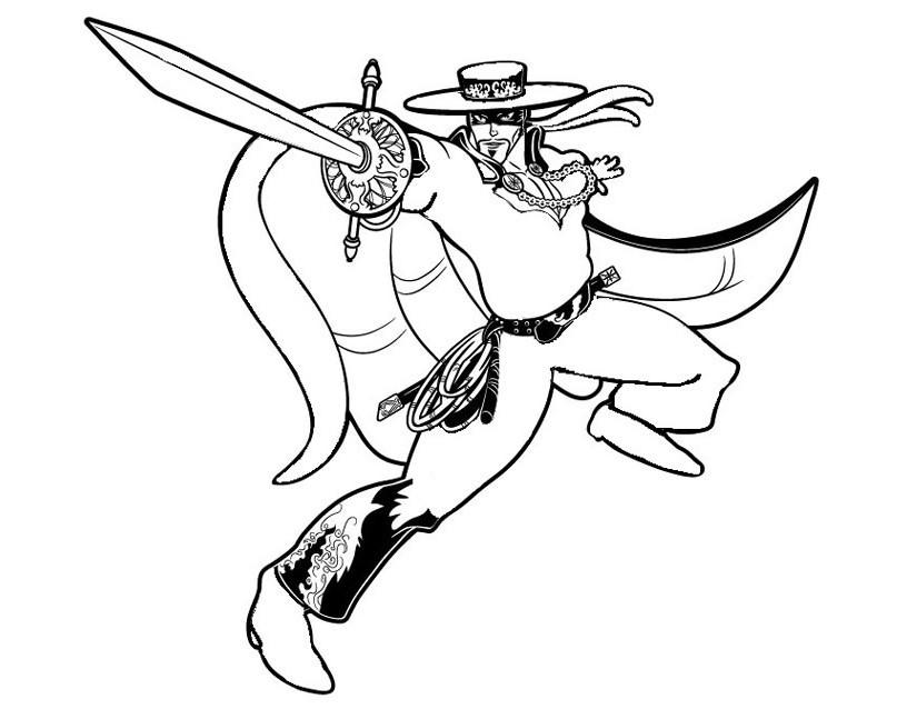 Coloriage A Imprimer Zorro.171 Dessins De Coloriage Super Heros A Imprimer Sur Laguerche Com