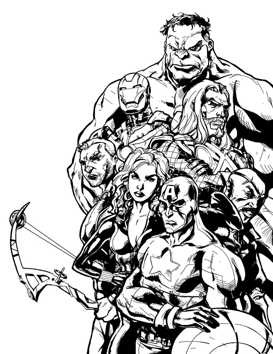 coloriage super heros gratuit