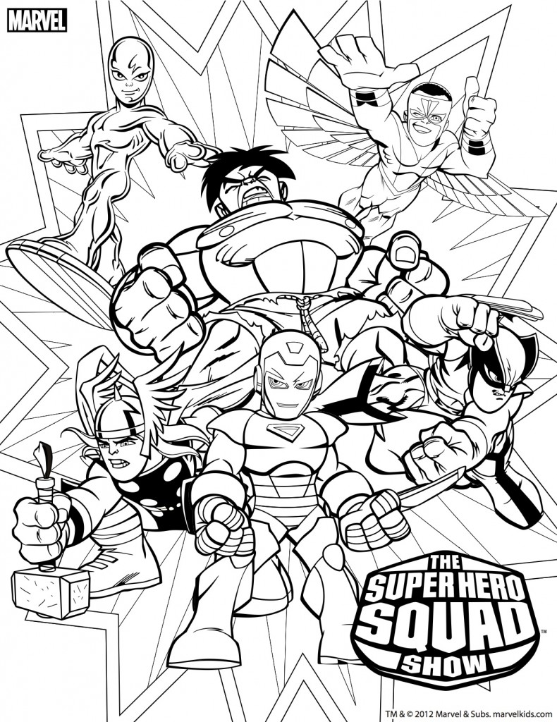 coloriage super hero sqad