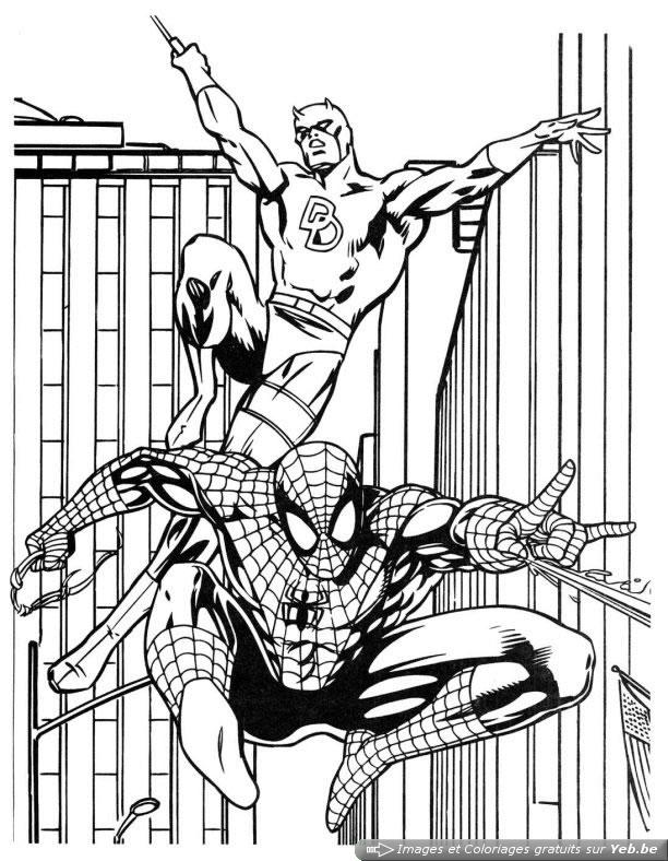 coloriage spiderman le superhéros dans la catégorie spiderman