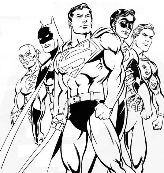 imprimer le coloriage batman superman pour imprimer le coloriage