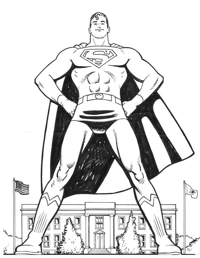 coloriage superman à imprimer gratuitement