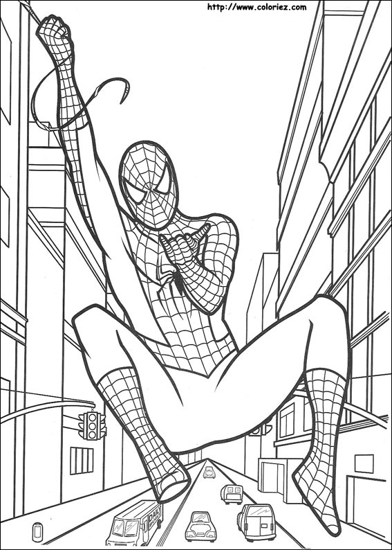 coloriages interactifs spiderman