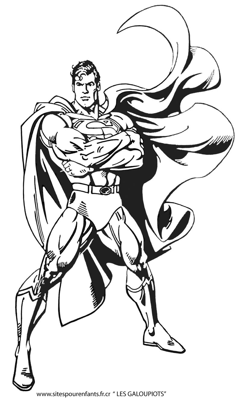 coloriage super hero
