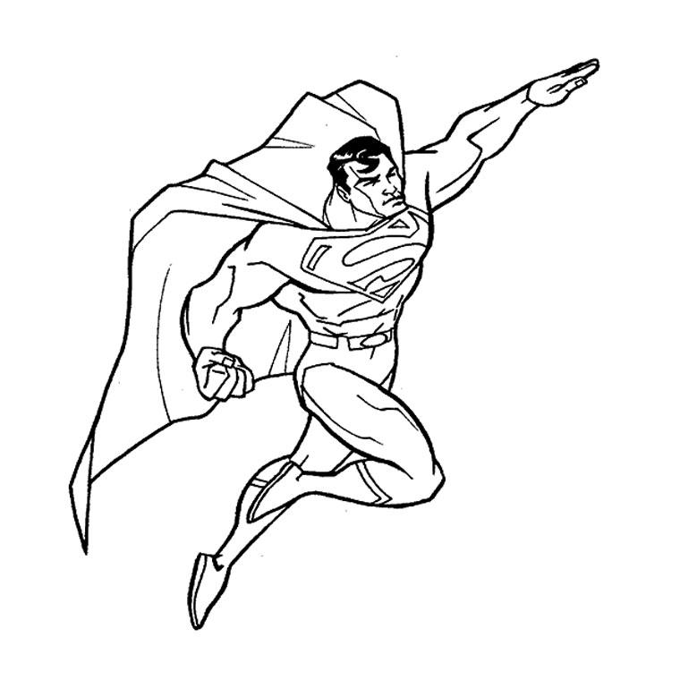 imprimer le coloriage superman pour imprimer le coloriage superman