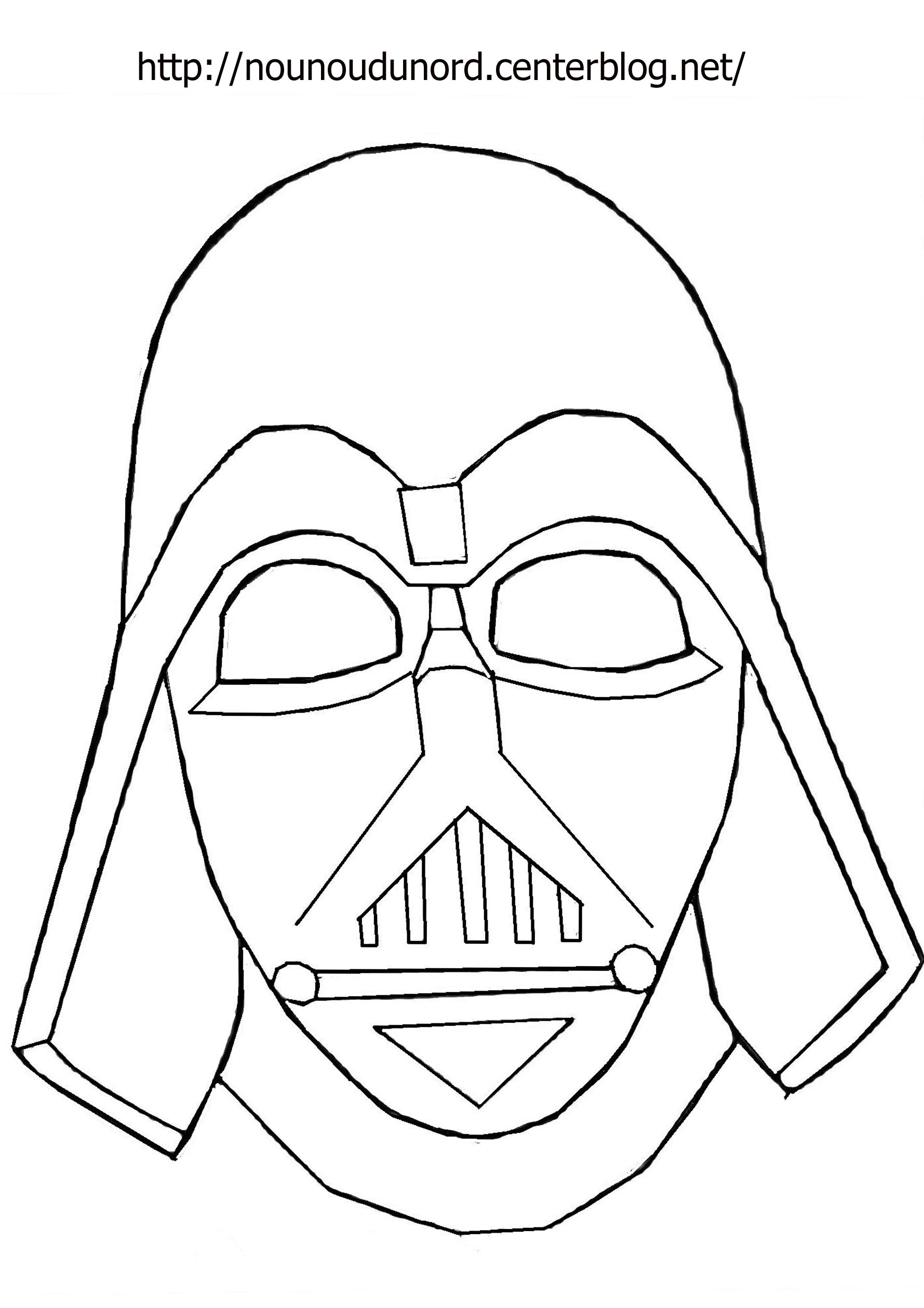 masque dark vador à imprimer dessiné