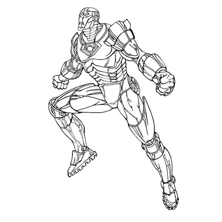 coloriage a imprimer coloriage de heros coloriage iron man