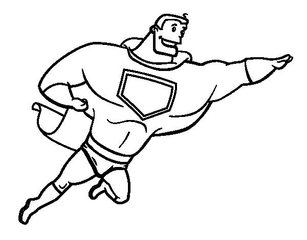coloriage de super héros grosse pour colorier