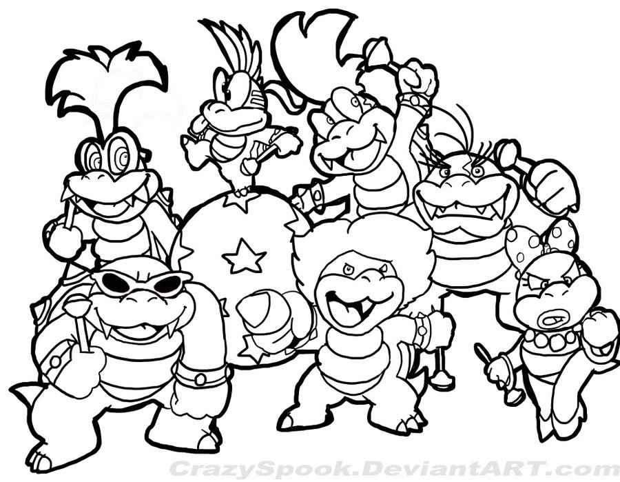 80 dessins de coloriage super mario bros imprimer sur - Coloriage mario bross ...