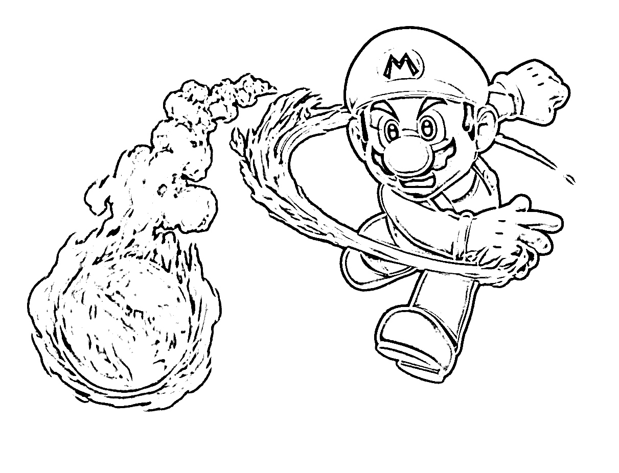 Dessin coloriage super mario - Coloriage mario bross ...