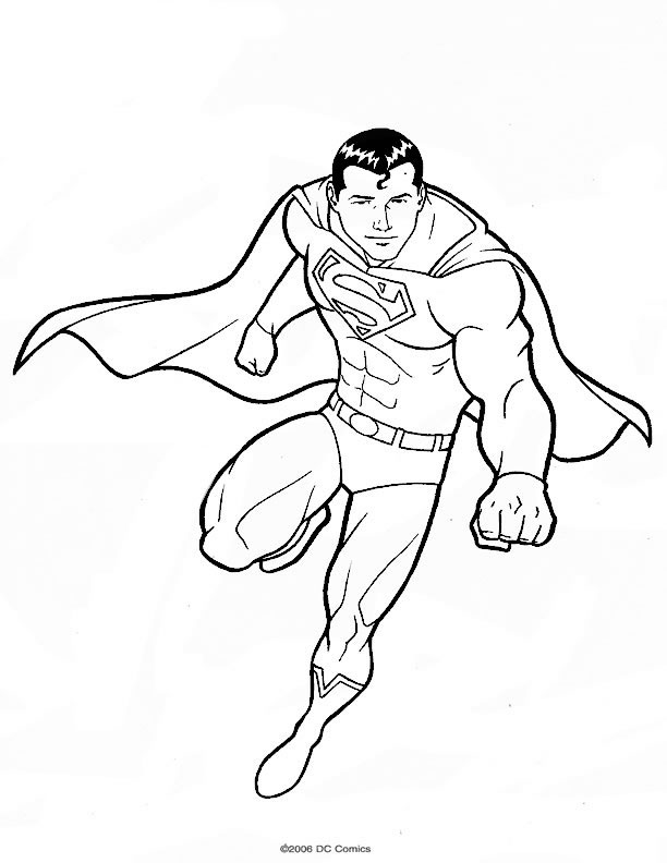 page coloriage superman