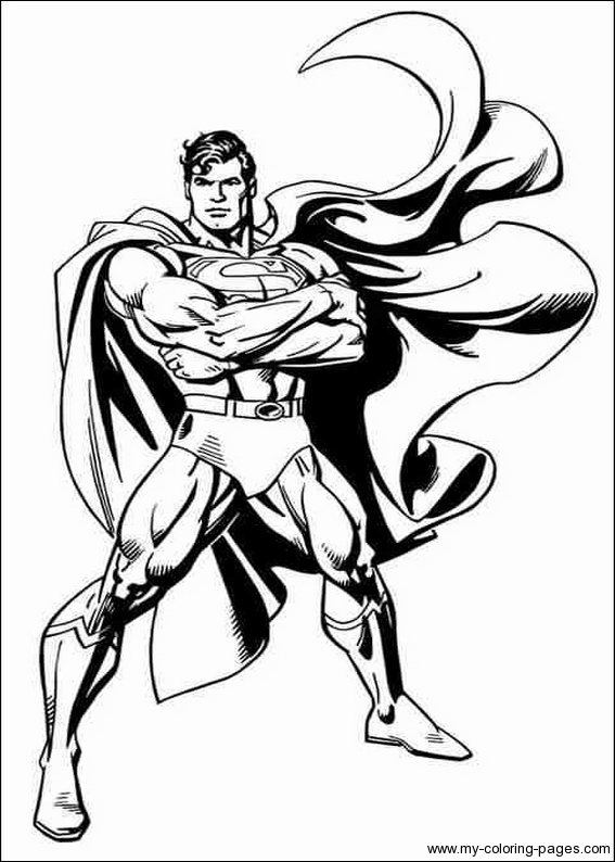 71 dessins de coloriage superman