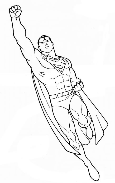coloriage superman et dessin à colorier superman