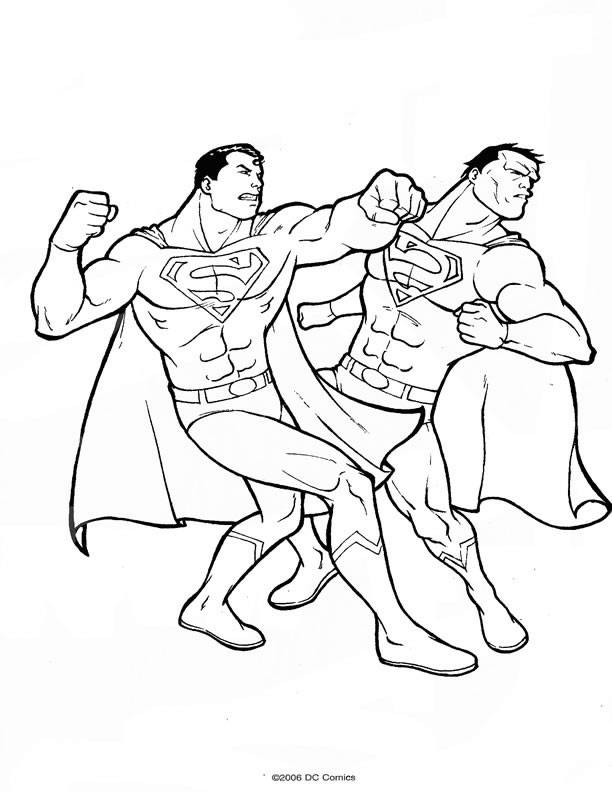 back to dessins à colorier superman catégorie