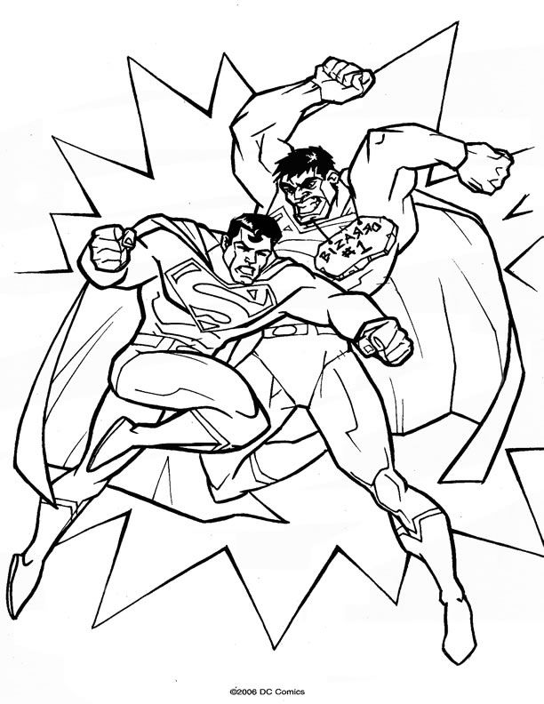coloriage superman à colorier