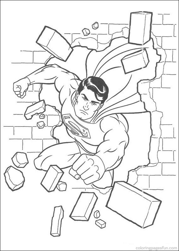 lego superman dessin à colorier