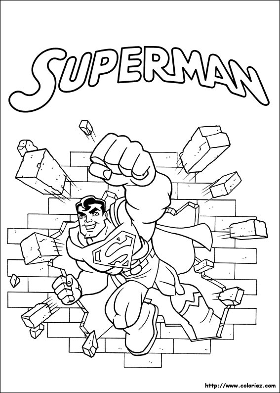coloriage coloriage de superman