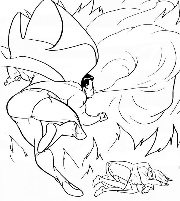 coloriage superman souffle et dessin à colorier superman souffle avec