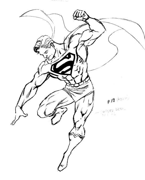 superman logo coloriage page dessin gratuit à colorier site